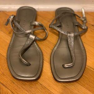 Marc Fischer silver flat sandals